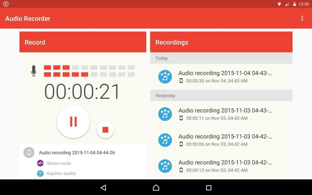 """Приложение """"Audio Recorder"""""""
